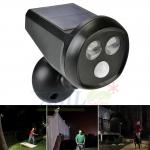 ไฟส่องทางโซล่าเซลล์ ทรง CCTV + Motion sensor (รุ่นใหม่) (เเสง : ขาว)