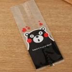 ถุงเบเกอรี่ ถุงขนม รูปหมี สีดำ 100 ใบ/ห่อ