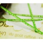 ลวดมัดปากถุง สีเขียว บรรจุ 1,000 ชิ้น/ห่อ
