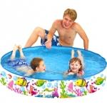 สระว่ายน้ำทรงกลม ขอบตั้ง Sea World Rigid Pool ส่งฟรี EMS
