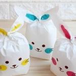 ถุงเบเกอรี่ ถุงขนมบิสกิต ถุงหูกระต่ายสีเหลือง 100 ใบ/ห่อ (Size : 13.5*22+6 cm.)