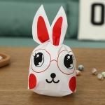 ถุงเบเกอรี่ ถุงขนมบิสกิต ถุงหูกระต่ายสีแดง 100 ใบ/ห่อ (Size : 13.5*22+6 cm.)