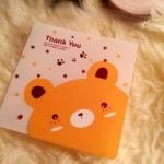 ถุงเบเกอรี่ ถุงขนม แบบมีเทปกาว รูปหมี 100 ใบ/ห่อ (10*10+3 cm.)