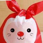 ถุงเบเกอรี่ ถุงขนมบิสกิต กระต่ายน้อยน่ารัก 100 ใบ/ห่อ (Size : 13.5*22+6 cm.)