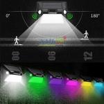 โคมไฟโซล่าเซลล์ ติดผนัง Motion 2 ทิศทาง 12 SMD LED (2 in 1) ตัวใหญ่
