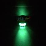 ไฟหมุดถนนโซล่าเซลล์ 6 LED (เเสง : เขียวกระพริบ)