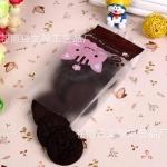 ถุงเบเกอรี่ ถุงขนม รูปแมว 100 ใบ/ห่อ (Size : 15*7+3 cm)