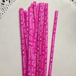 ลวดมัดปากถุง สีชมพู บรรจุ 1,000 ชิ้น/ห่อ