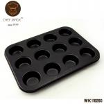 Chef Made ถาดหลุมเทปล่อน 12 หลุม (25.5*19.6*2.1 cm.)
