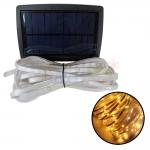 ไฟกระพริบโซล่าเซลล์ 100 CHIP SMD LED (3 ฟังก์ชั่น) (เเสง : เหลืองวอมไวท์)