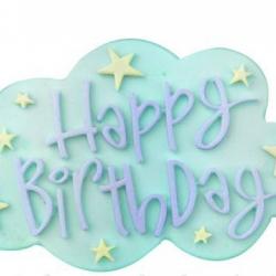 โมล พิมพ์ซิลิโคน รูป Happy BirthDay