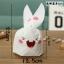 ถุงหูกระต่าย ถุงเบเกอรี่ ถุงขนมบิสกิต กระต่ายน้อยน่ารัก 100 ใบ/ห่อ (Size : 13.5*22+6 cm.) thumbnail 1
