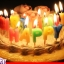 เทียนตกแต่งเค้ก Happy Birth Day (ราคา/ชิ้น) thumbnail 1