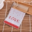 ถุงเบเกอรี่ ถุงขนมปัง แบบมีเทปกาว รูป Love 100 ใบ/ห่อ (10*10+3 cm.) thumbnail 2