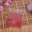 ถุงเบเกอรี่ ถุงขนมปัง แบบมีเทปกาว สีแดง 100 ใบ/ห่อ (10*10+3 cm.) thumbnail 3