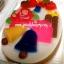 พิมพ์วุ้นปอนด์ ลายคริสมาส์ HAPPY 20cm ลายที่ 1010 thumbnail 2