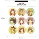 (1แผ่น/ชุด) สติ๊กเกอร์แนววินเทจ ลายเด็กผู้หญิง The Girl Pattern Sticker
