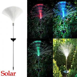 ไฟปักสนามพลังงานแสงอาทิตย์ Fiber Optic เปลี่ยนสีอัตโนมัติ