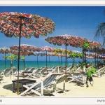 โปสการ์ด หาดจอมเทียน จังหวัดชลบุรี /ทะเล/ชายหาด/ร่ม