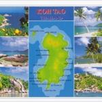 โปสการ์ด อ่าวและหาดต่างๆที่เกาะเต่า จังหวัดสุราษฎร์ธานี /ทะเล/ชายหาด/แผนที่/multiview
