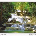 โปสการ์ด น้ำตกเอราวัณ ชั้นที่ 1 จังหวัดกาญจนบุรี /อุทยานแห่งชาติเอราวัณ/น้ำตก