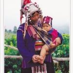 โปสการ์ด ชาวเขาเผ่าอีก้อ (ภาคเหนือ) /ชาวเขา/การแต่งกาย