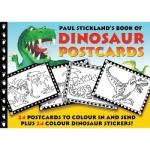 Dinosaur Postcards โปสการ์ดไดโนเสาร์ สำหรับเด็ก ระบายสี-ติดสติ๊กเกอร์-เขียน-ส่ง 24 ใบ